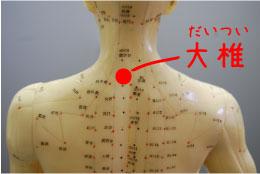 風邪予防のお灸‐大椎