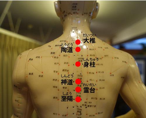 自律神経失調症に効く背中のツボ