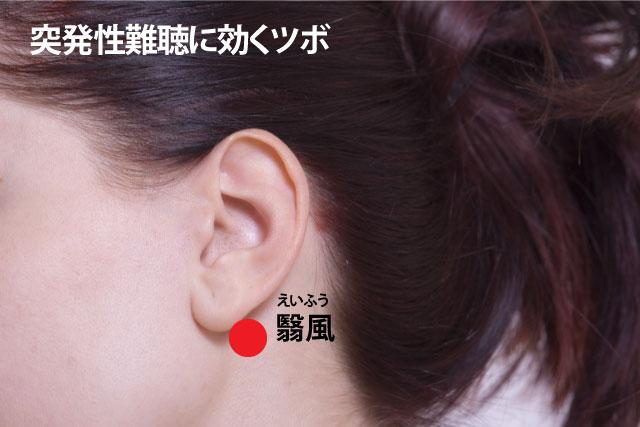 突発性難聴に効くツボ