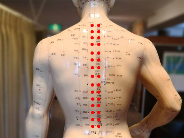 背中のコリ、痛みに効くツボ