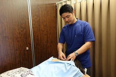 更年期障害の鍼灸治療風景