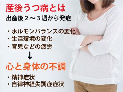 産後うつ病の説明